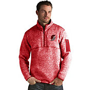 Antigua Men's Portland Trail Blazers Fortune Red Half-Zip Pullover
