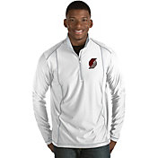 Antigua Men's Portland Trail Blazers Tempo White Quarter-Zip Pullover