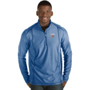 Antigua Men's Oklahoma City Thunder Tempo Royal Quarter-Zip Pullover