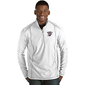 Antigua Men's Oklahoma City Thunder Tempo White Quarter-Zip Pullover