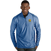 Antigua Men's Golden State Warriors Tempo Royal Quarter-Zip Pullover