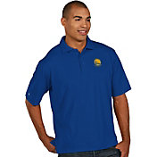 Antigua Men's Golden State Warriors Xtra-Lite Royal Pique Performance Polo