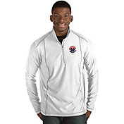 Antigua Men's Washington Wizards Tempo White Quarter-Zip Pullover