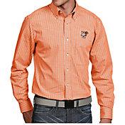 Antigua Men's Bowling Green Falcons Orange Associate Button Down Long Sleeve Shirt