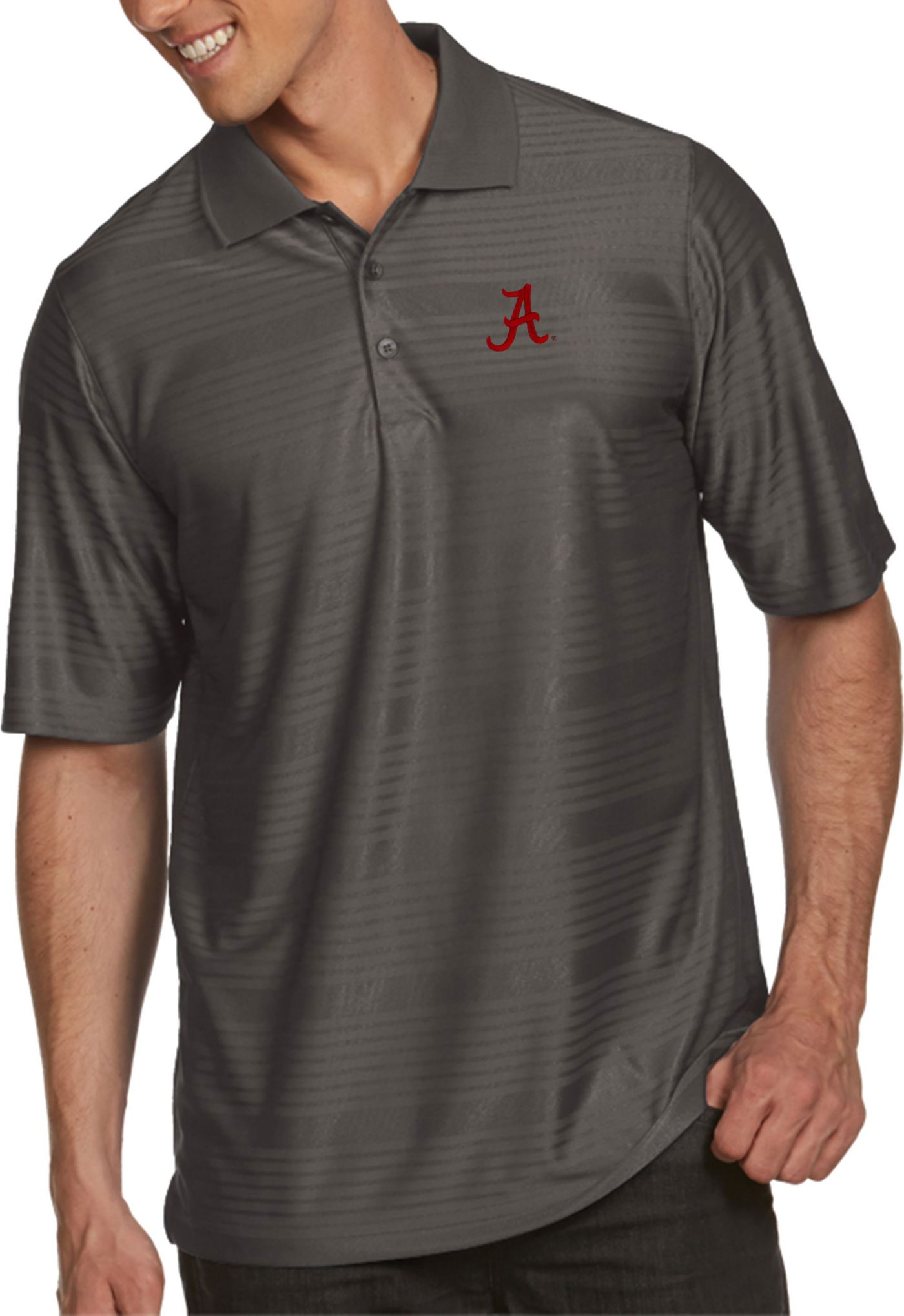 Antigua Men's Alabama Crimson Tide Grey Illusion Polo