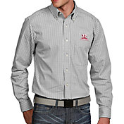 Antigua Men's 2017 National Champions Alabama Crimson Tide Associate Button Down Long Sleeve White Shirt