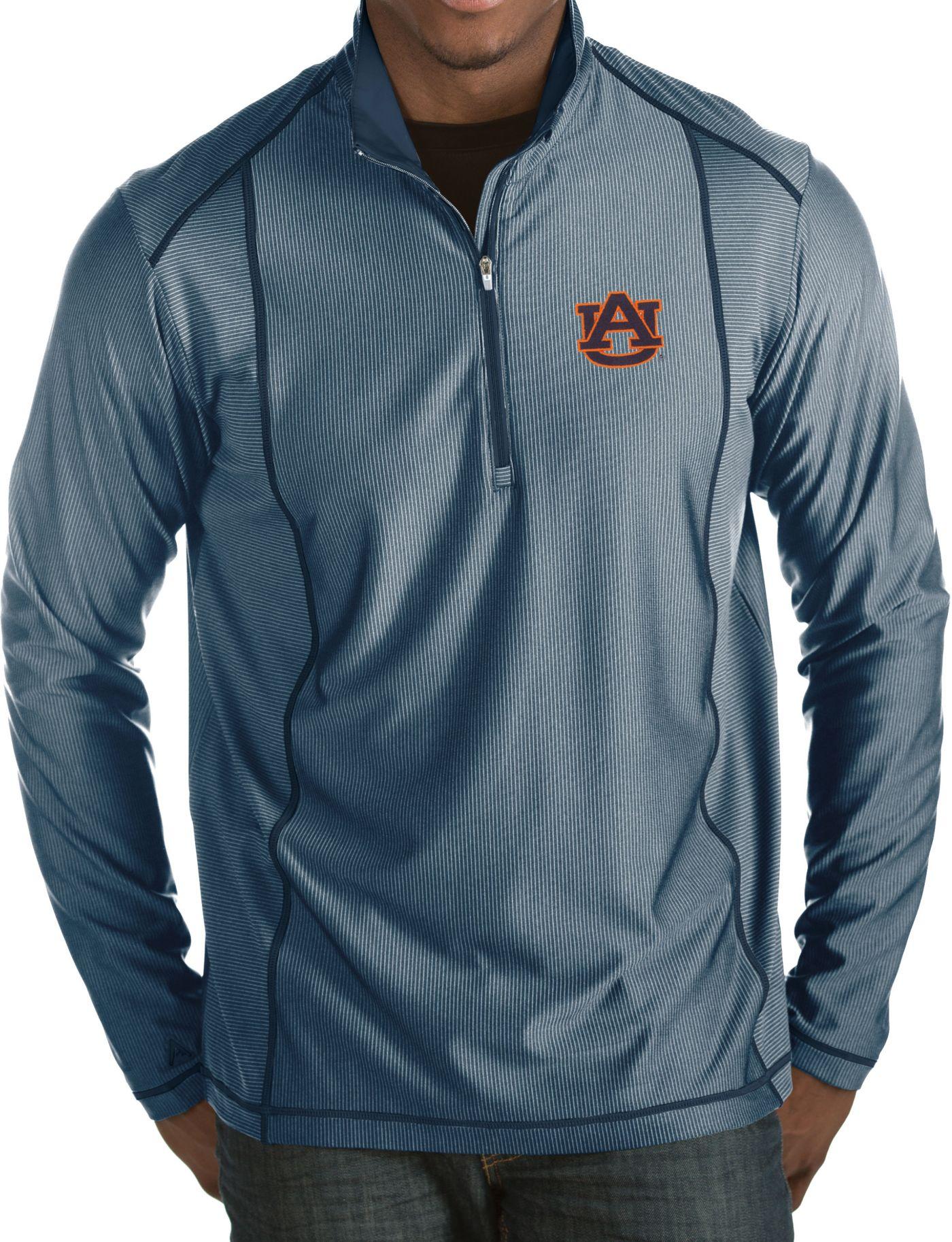 Antigua Men's Auburn Tigers Blue Tempo Half-Zip Pullover