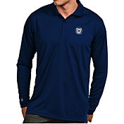 Antigua Men's Butler Bulldogs Blue Exceed Long Sleeve Polo