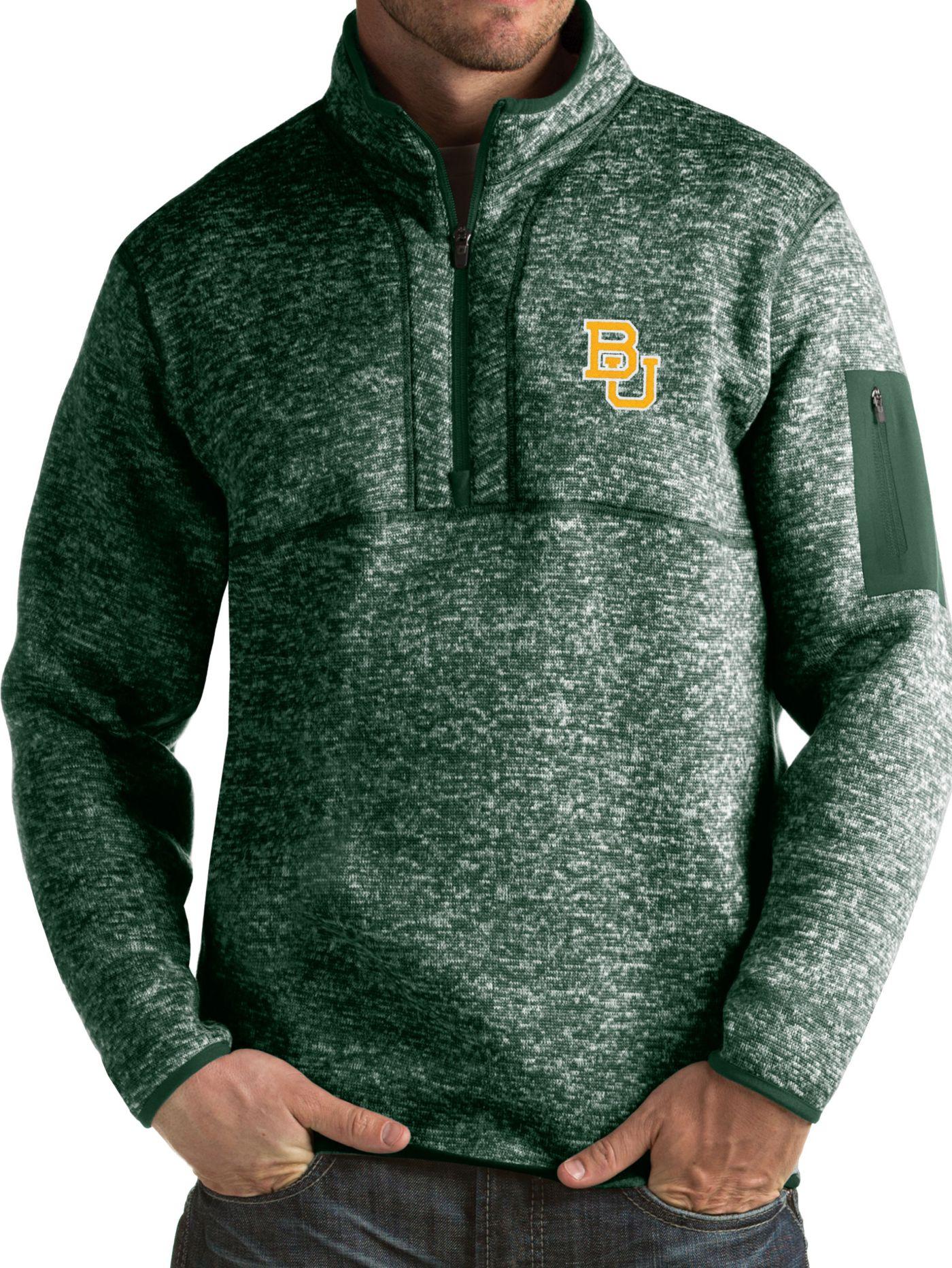 Antigua Men's Baylor Bears Green Fortune Pullover Jacket