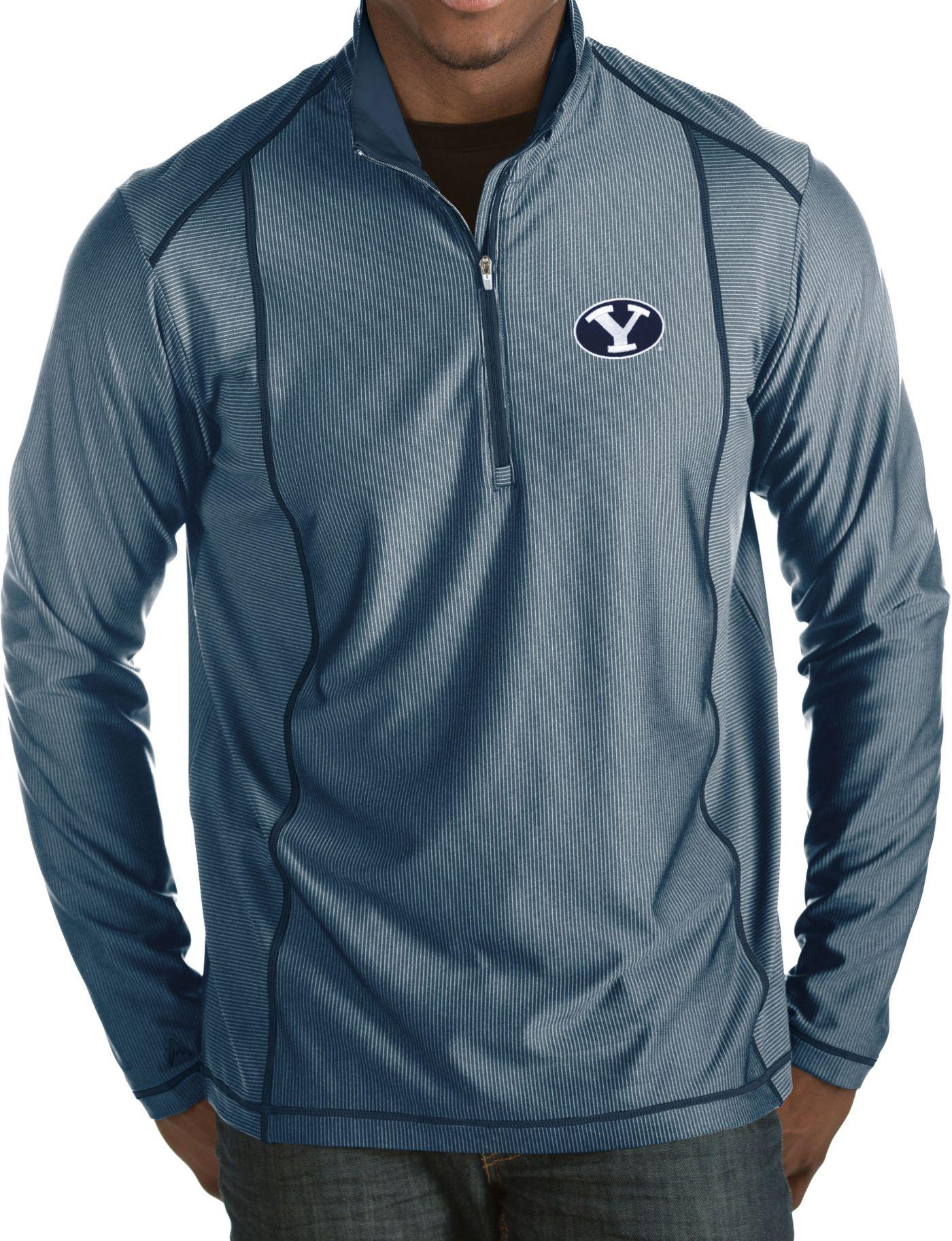 Antigua Men's BYU Cougars Blue Tempo Half-Zip Pullover