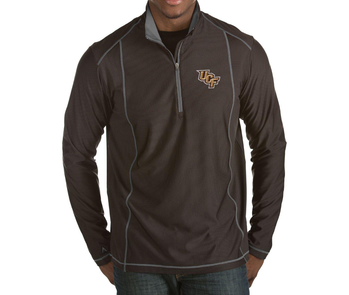 Antigua Men's UCF Knights Black Tempo Half-Zip Pullover