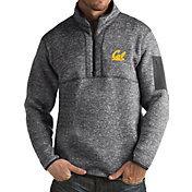 Antigua Men's Cal Golden Bears Grey Fortune Pullover Jacket