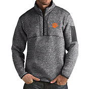 Antigua Men's Clemson Tigers Grey Fortune Pullover Jacket