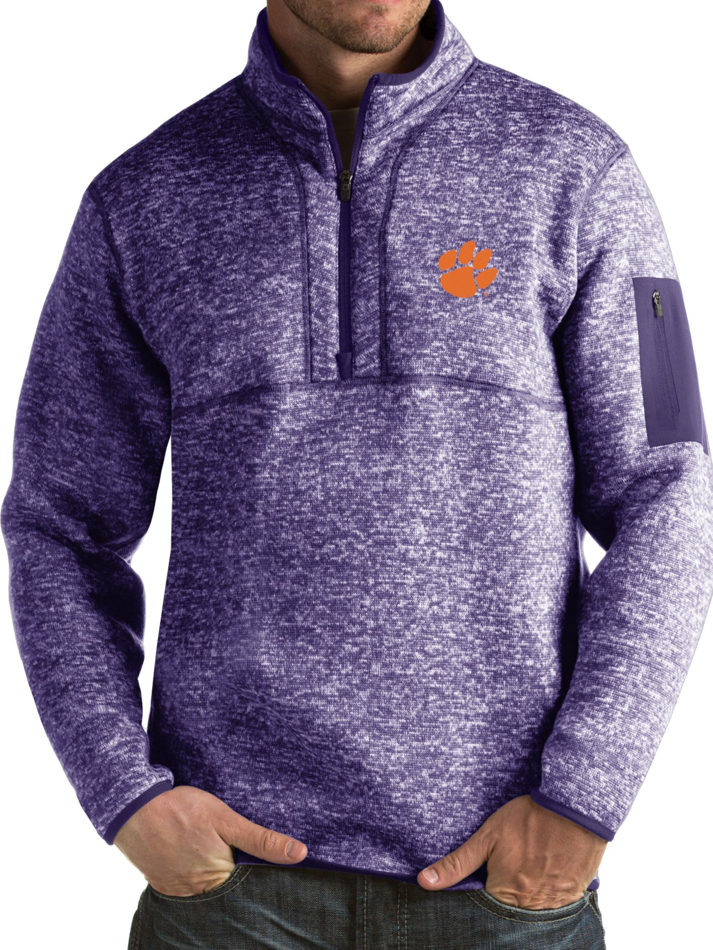Antigua Men's Clemson Tigers Regalia Fortune Pullover Jacket