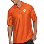 Antigua Men's Clemson Tigers Orange Illusion Polo