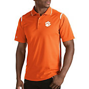 Antigua Men's Clemson Tigers Merit Xtra-Lite White Polo