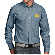 Antigua Men's Cal Golden Bears Blue Associate Button Down Long Sleeve Shirt