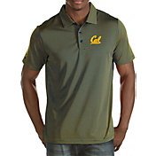 Antigua Men's Cal Golden Bears Blue/Gold Quest Polo