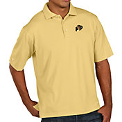 Antigua Men's Colorado Buffaloes Gold Pique Xtra-Lite Polo