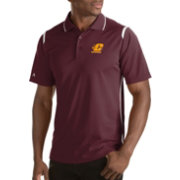 Antigua Men's Central Michigan Chippewas Merit Xtra-Lite White Polo
