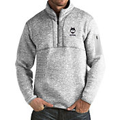 Antigua Men's UConn Huskies Grey Fortune Pullover Jacket