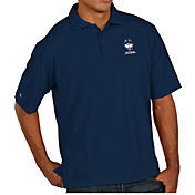 Antigua Men's UConn Huskies Blue Pique Xtra-Lite Polo