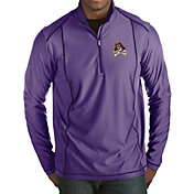 Antigua Men's East Carolina Pirates Purple Tempo Half-Zip Pullover