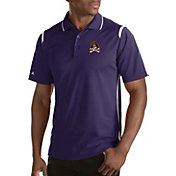 Antigua Men's East Carolina Pirates Merit Xtra-Lite White Polo