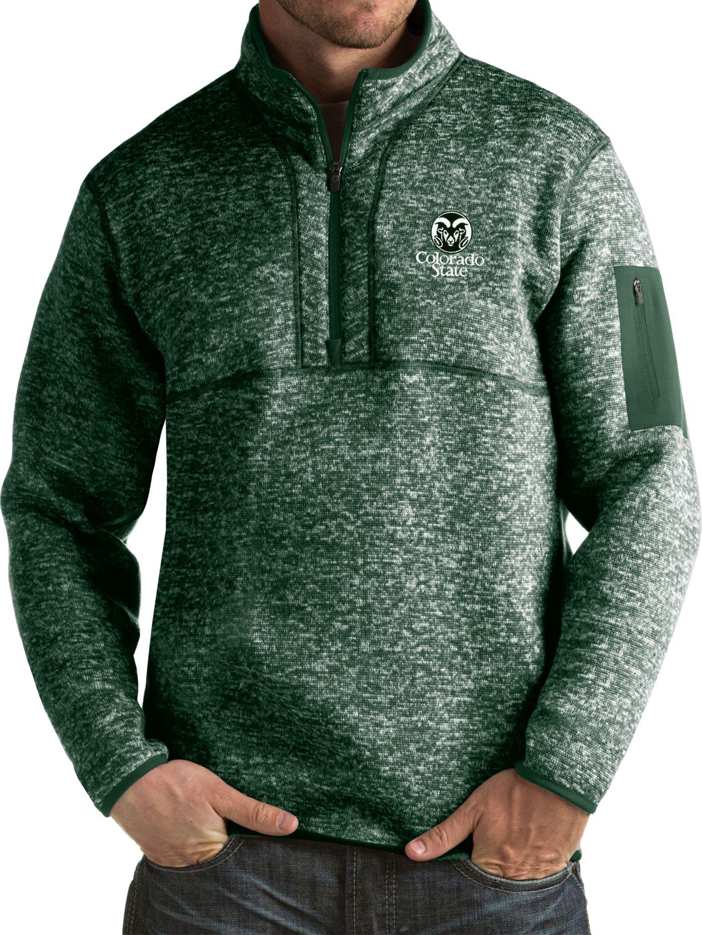 Antigua Men's Colorado State Rams Green Fortune Pullover Jacket