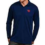 Antigua Men's Dayton Flyers Blue Exceed Long Sleeve Polo