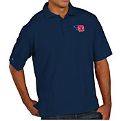 Antigua Men's Dayton Flyers Blue Pique Xtra-Lite Polo