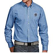 Antigua Men's Florida Gators Blue Associate Button Down Long Sleeve Shirt