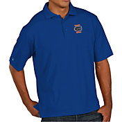 Antigua Men's Florida Gators Blue Pique Xtra-Lite Polo