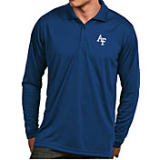 Antigua Men's Air Force Falcons Blue Exceed Long Sleeve Polo