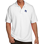 Antigua Men's Air Force Falcons White Pique Xtra-Lite Polo