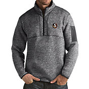 Antigua Men's Florida State Seminoles Grey Fortune Pullover Jacket