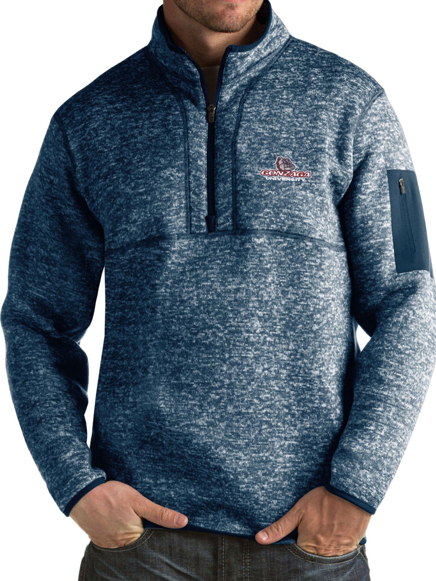 Antigua Men's Gonzaga Bulldogs Blue Fortune Pullover Jacket