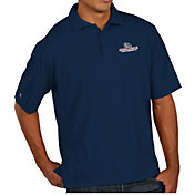 Antigua Men's Gonzaga Bulldogs Blue Pique Xtra-Lite Polo