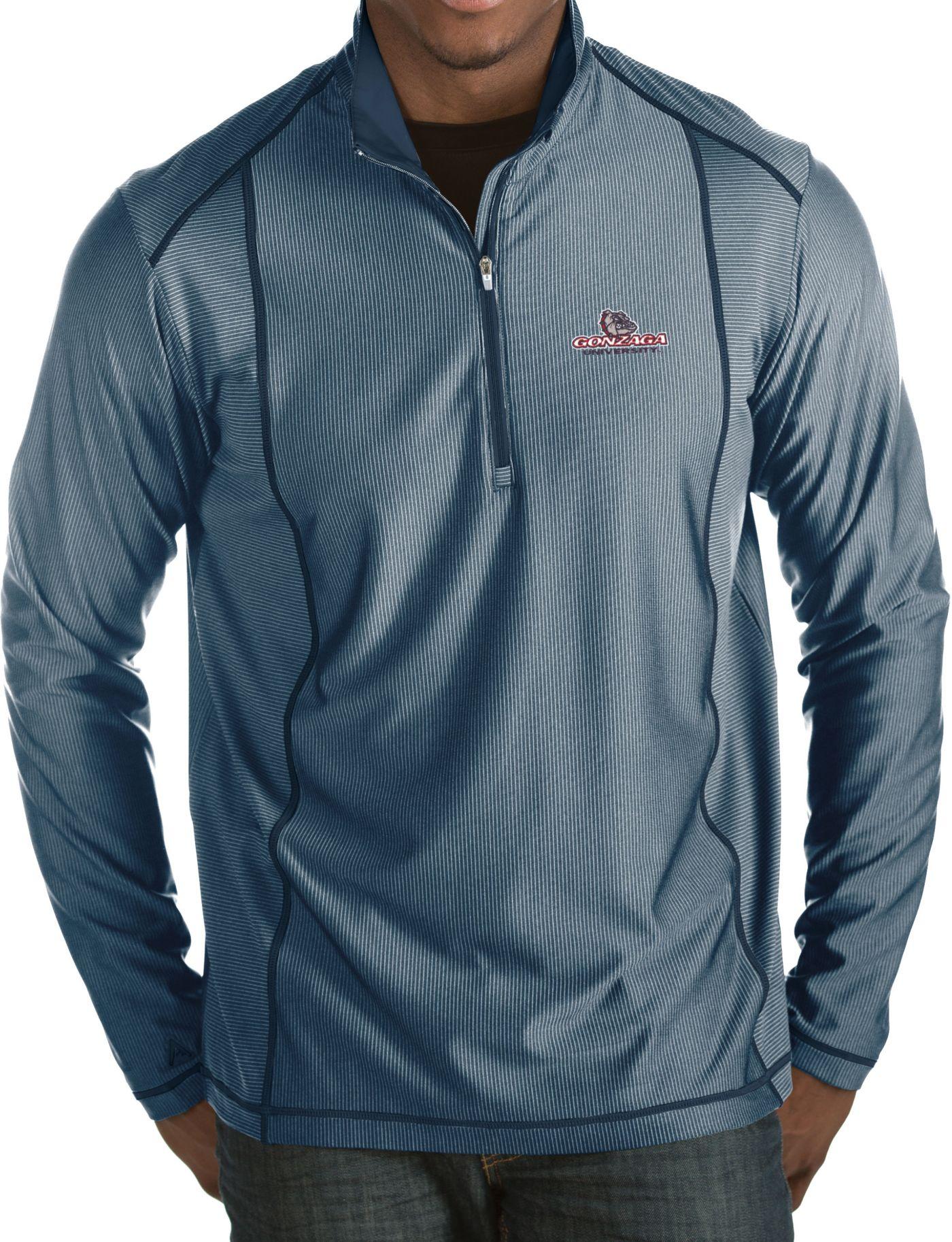Antigua Men's Gonzaga Bulldogs Blue Tempo Half-Zip Pullover