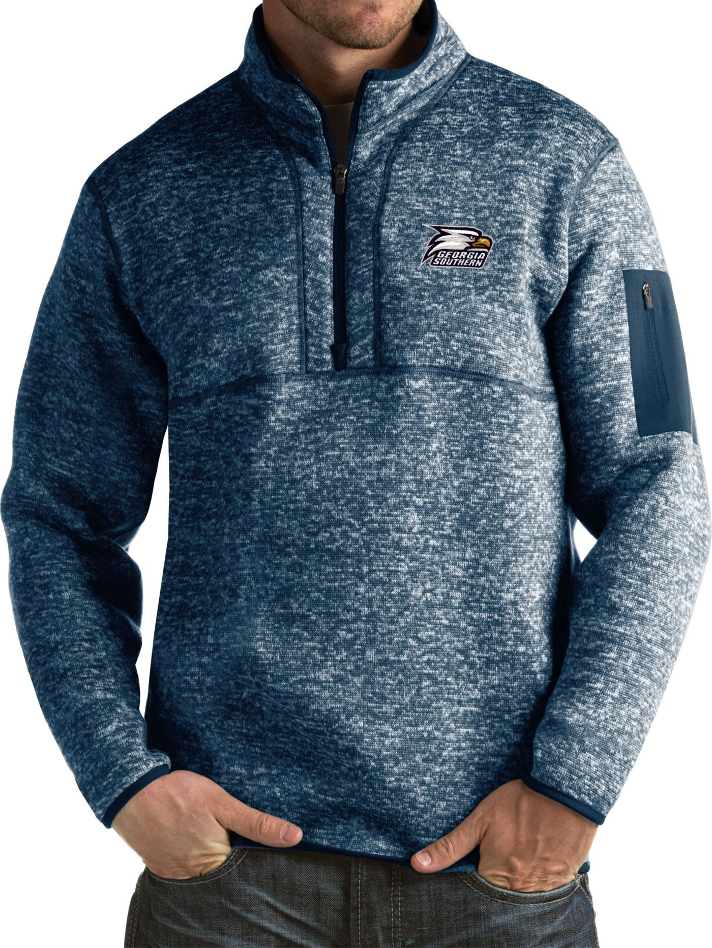 Antigua Men's Georgia Southern Eagles Navy Fortune Pullover Jacket