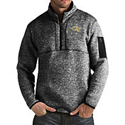 Antigua Men's Georgia Tech Yellow Jackets Black Fortune Pullover Jacket