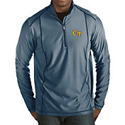 Antigua Men's Georgia Tech Yellow Jackets Navy Tempo Half-Zip Pullover