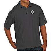 Antigua Men's Georgetown Hoyas Grey Pique Xtra-Lite Polo