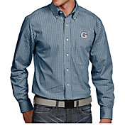 Antigua Men's Georgetown Hoyas Blue Associate Button Down Long Sleeve Shirt