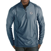 Antigua Men's Georgetown Hoyas Blue Tempo Half-Zip Pullover