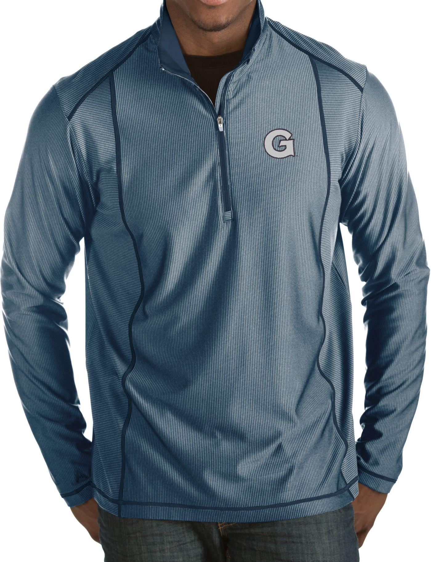 Antigua Men's Georgetown Hoyas Blue Tempo Half-Zip Pullover