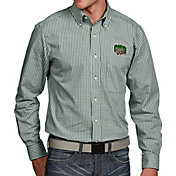 Antigua Men's Ohio Bobcats Green Associate Button Down Long Sleeve Shirt