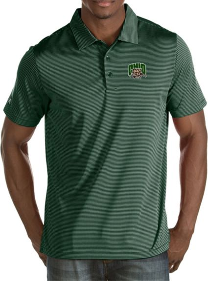Antigua Men's Ohio Bobcats Green Quest Polo