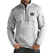 Antigua Men's Ohio Bobcats Grey Fortune Pullover Jacket