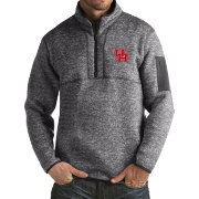 Antigua Men's Houston Cougars Grey Fortune Pullover Jacket